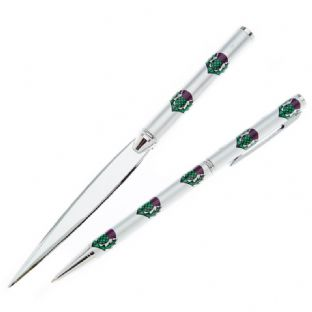 Scottish Thistle Pen & Letter Opener Gift Set